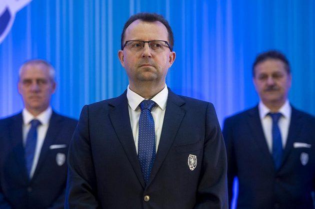 Předseda FAČR Martin Malík na Valné hromadě Fotbalové asociace ČR (FAČR).