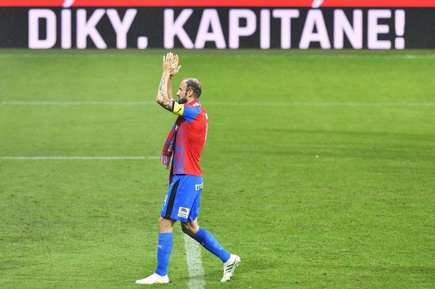Roman Hubník se po zápase loučil s plzeňským klubem.