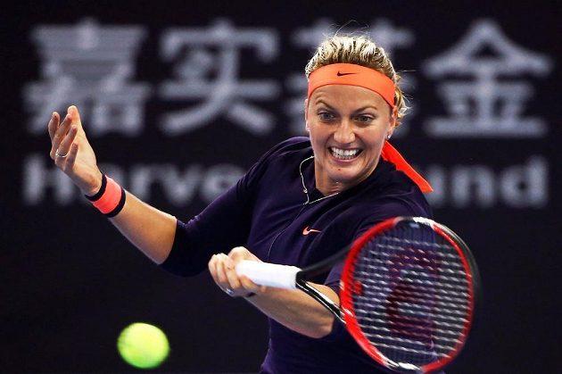 Petra Kvitová během osmifinále turnaje v Pekingu.