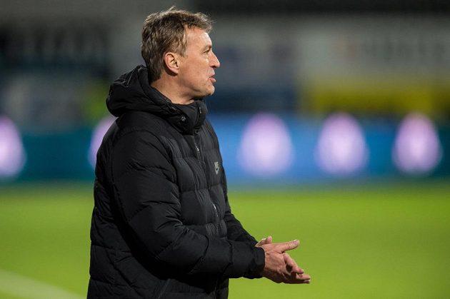 Trenér Jablonce Zdeněk Klucký během utkání se Spartou.