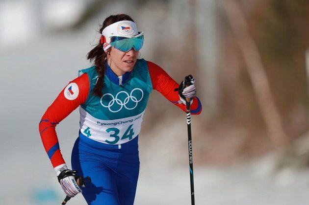 Petra Hynčicová při závodu na 30 km klasicky.