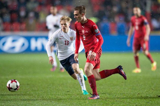 Bořek Dočkal během utkání Norskem.