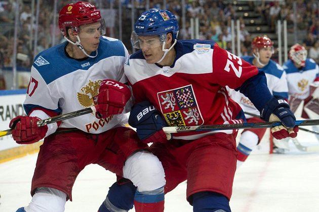Alexej Marčenko z Ruska a český reprezentant Dmitrij Jaškin.