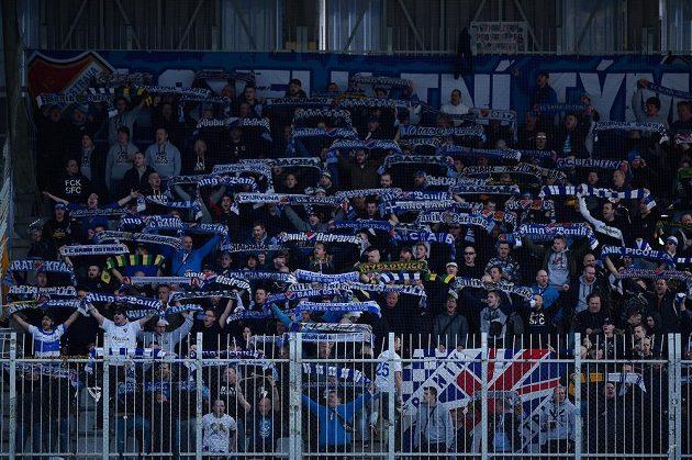 Fanoušci Baníku Ostrava na utkání v Jablonci.