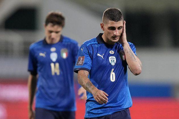 Italské zklamání. Úřadující evropští šampioni fotbalisté Itálie nečekaně remizovali doma v kvalifikaci o postup na mistrovství světa 2022 s Bulharskem 1:1.