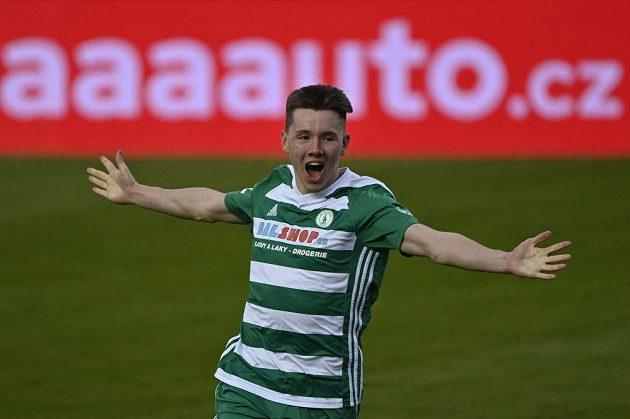 Pavel Osmančík z Bohemians se raduje z druhého gólu.