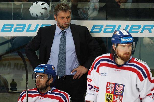 Český trenér Josef Jandač při utkání s Německem v Norimberku.