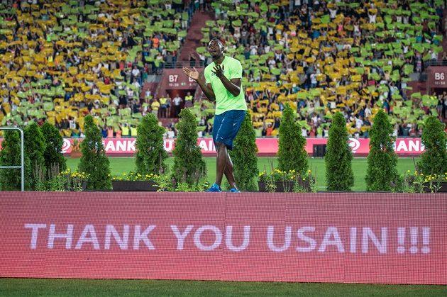 Usain Bolt si užíval v Ostravě velkolepé ovace.