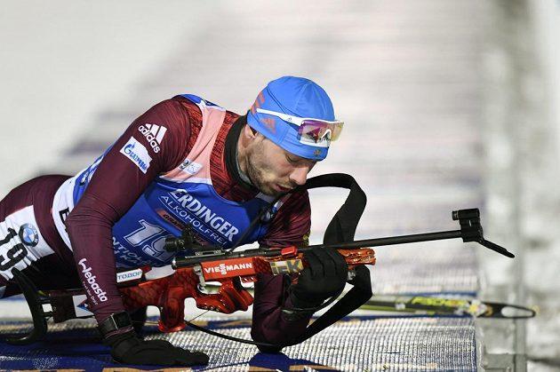 Ruský biatlonista Anton Šipulin vyhrál Světového poháru ve sprintu.