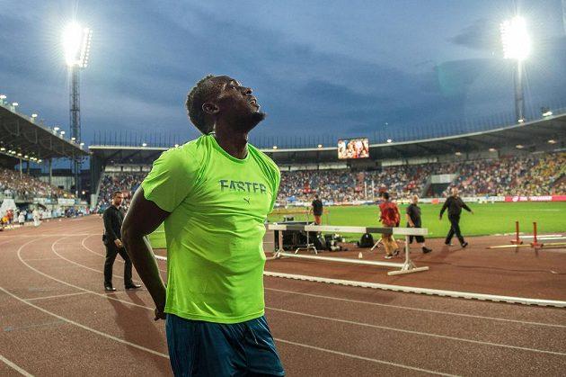 Jamajský sprinter Usain Bolt na Zlaté tretře.