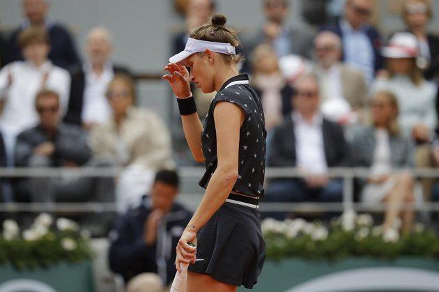 Markéta Vondroušová ve finále French Open.