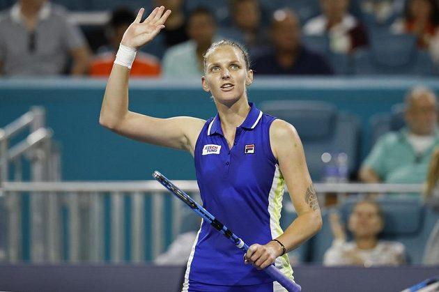 České tenisové derby na turnaji v Miami vyhrála Karolína Plíšková.