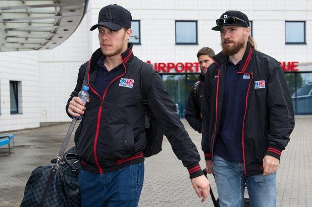 David Pastrňák (vlevo) a Lukáš Kašpar.