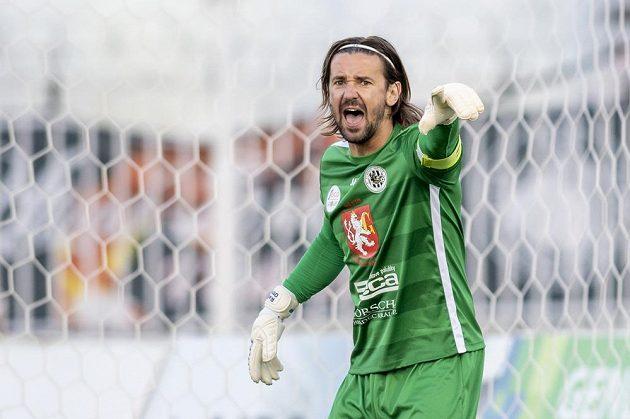 Fotbalový brankář Radim Ottmar z Hradce Králové.