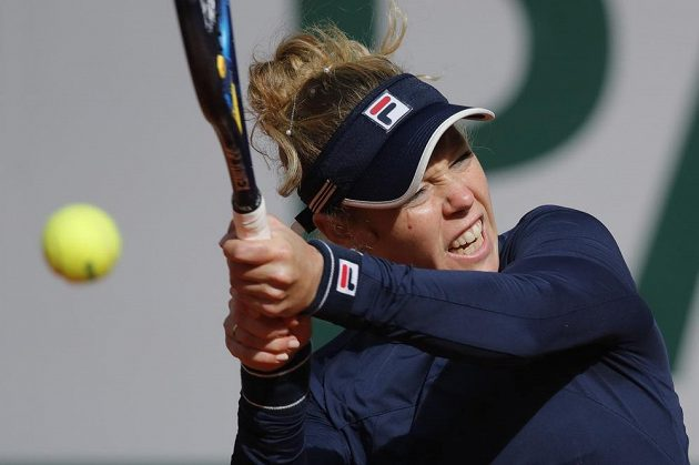 Laura Siegemundová v zápase proti Petře Kvitové