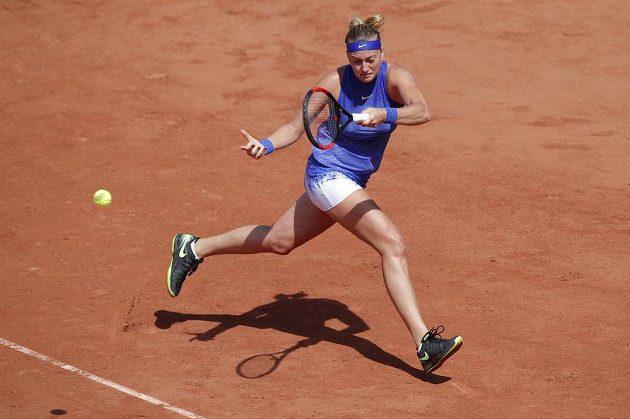 Petra Kvitová během utkání s Mattekovou-Sandsovou.