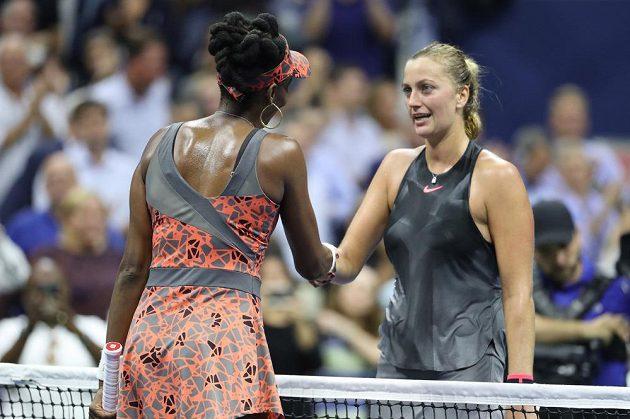 Tenistka Petra Kvitová prohrála ve čtvrtfinále grandslamového US Open s domácí favoritkou Venus Williamsovou po vyrovnaném boji 3:6, 6:3 a 6:7.