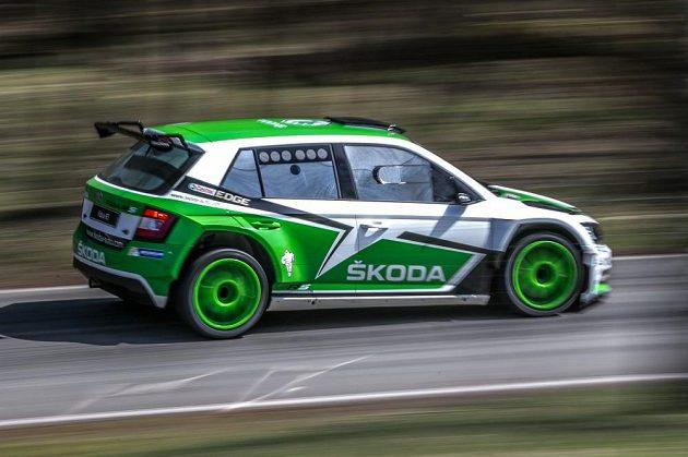 Škoda Fabia R5 při světové premiéře v Bělé pod Bezdězem.