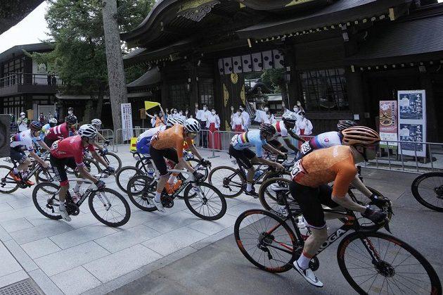 Silniční závod cyklistů v Tokiu, ilustrační foto.