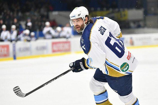 Útočník Jaromír Jágr během utkání Chance ligy s HC Ústí nad Labem.