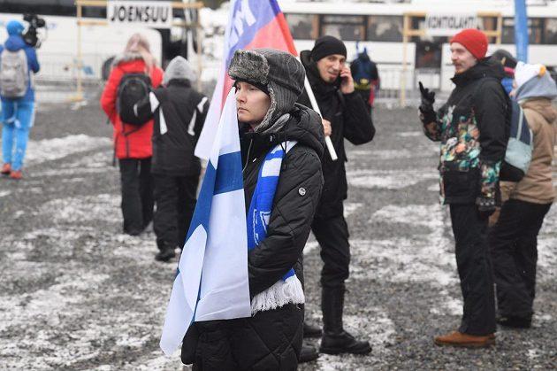 Zklamaní fanoušci, kteří nemohli na sprint v Kontiolahti.