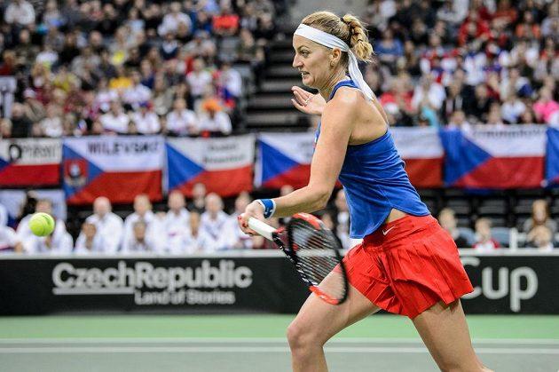 Petra Kvitová v zápasu s Belindou Bencicovou.