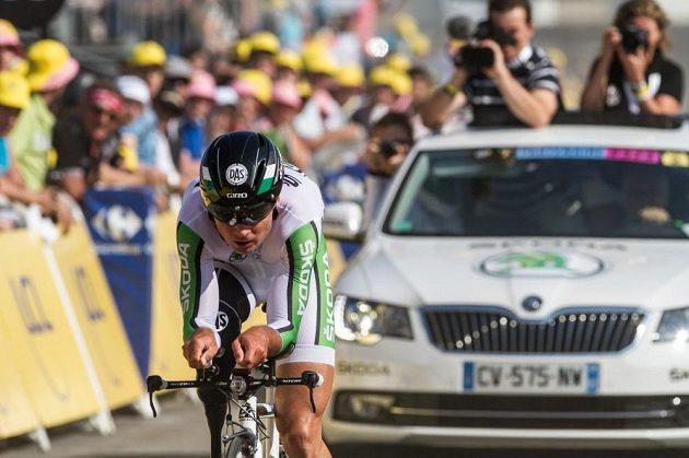 Paralympik Jiří Ježek během časovky na Tour de France