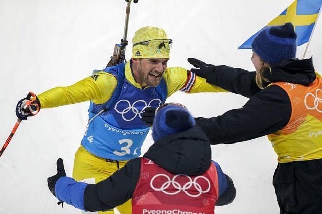 Švédská radost v cíli.