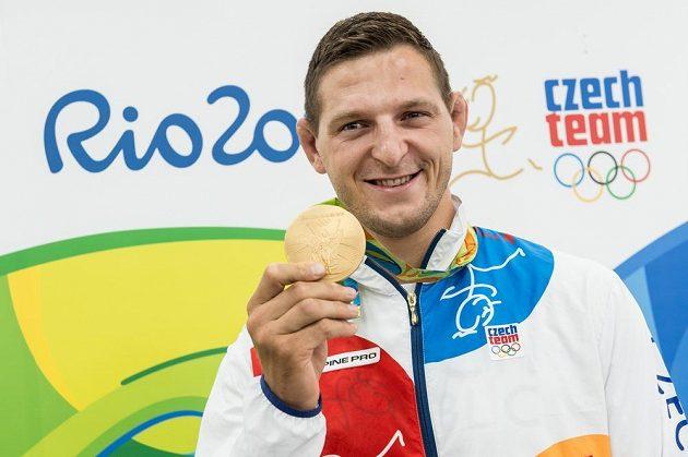 Judista Lukáš Krpálek se zlatou medailí z LOH 2016 z brazilského Rio de Janeira.