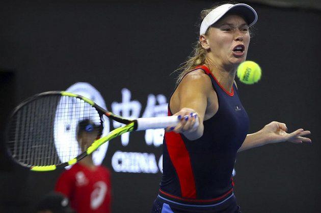 Světová dvojka Caroline Wozniacká z Dánska byla nad síly české reprezentantky.
