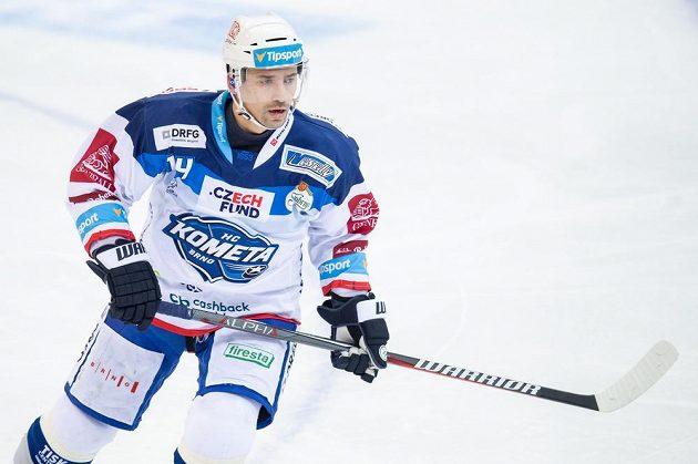 Tomáš Plekanec z Brna při utkání se Spartou.