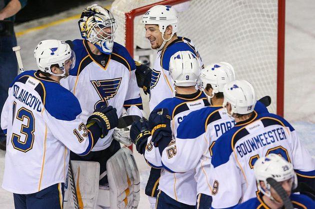 Hokejisté St. Louis si proti Edmontonu zastříleli.