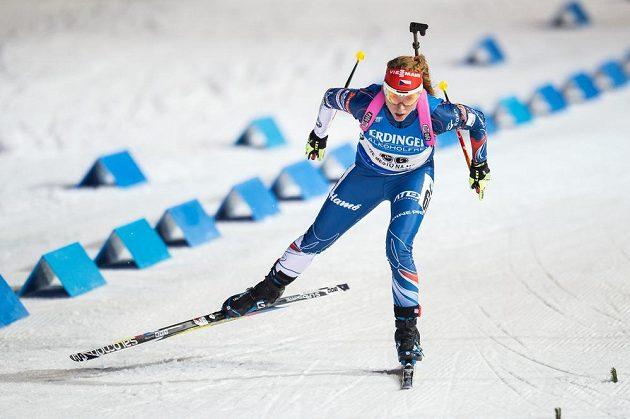 Markéta Davidová během sprintu v Novém Městě na Moravě.