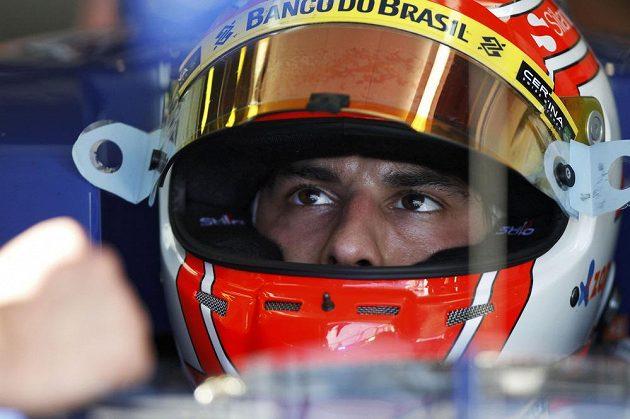 Pekelně soustředěný Felipe Nasr, nováček ze stáje Sauber.