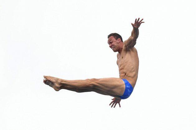 Michal Navrátil při tréninku na MS v Budapešti.