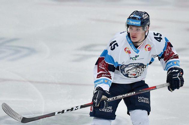 Jan Ordoš z Liberce při utkání s Chomutovem.