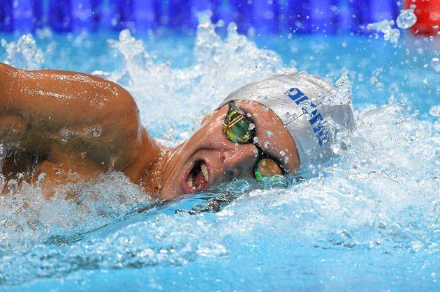 Jan Micka v rozplavbě na 1500 metrů.