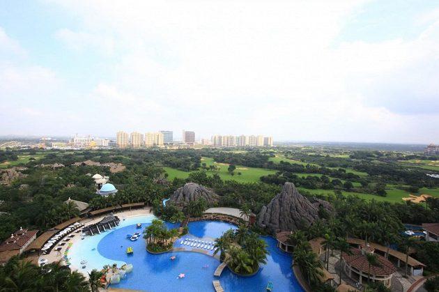 Výhled z hotelu.