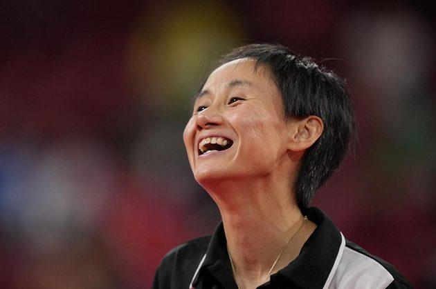Liu Jia z Rakouska při utkání s Hind Zazaovou ze Sýrie.