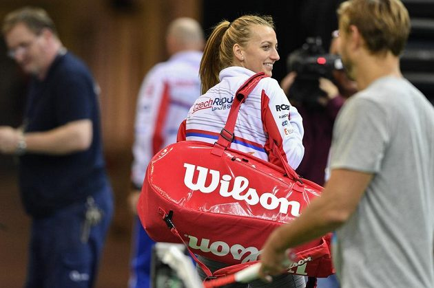 Tenistka Petra Kvitová po úterním tréninku na finále Fed Cupu