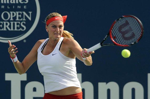 Petra Kvitová během finále turnaje v New Havenu.