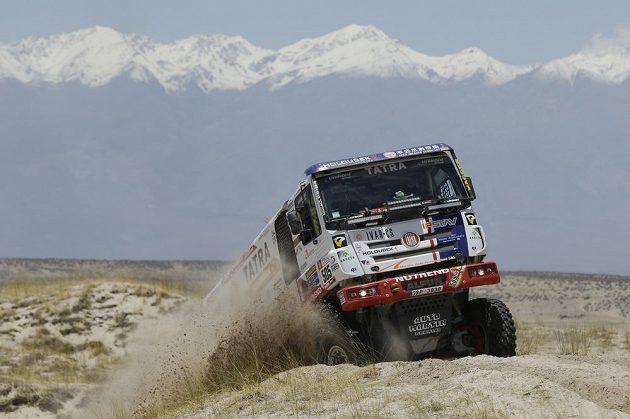 Martin Kolomý v 10. etapě Rallye Dakar.