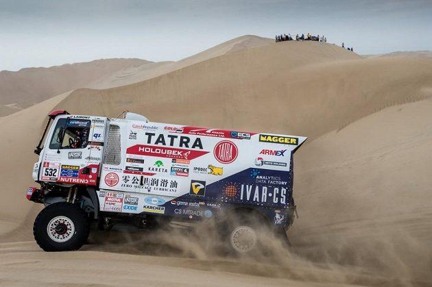 Kamión týmu TATRA Buggyra Racing při Rallye Dakar 2018.