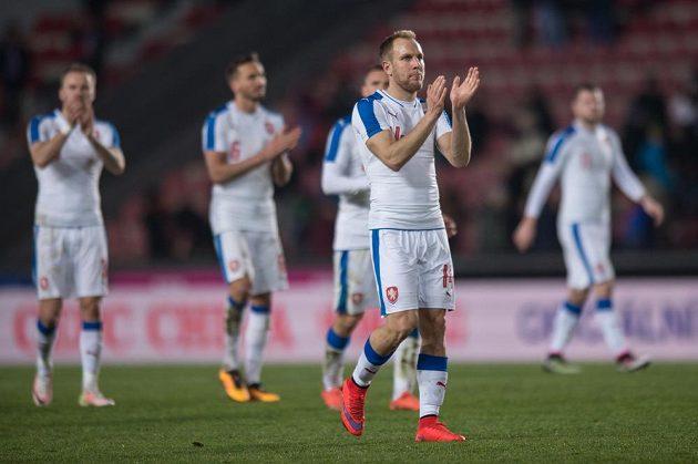 Český záložník Daniel Kolář po utkání se Skoty.