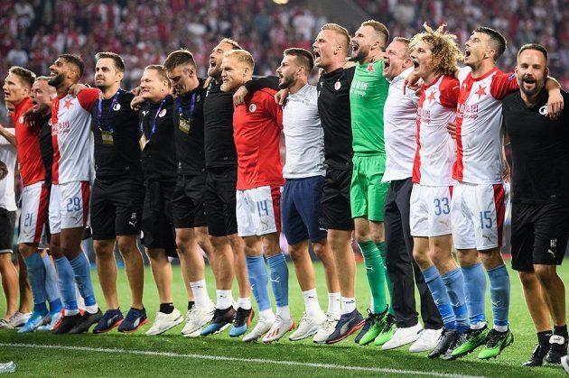 Je dobojováno! Slavia slaví postup do Ligy mistrů