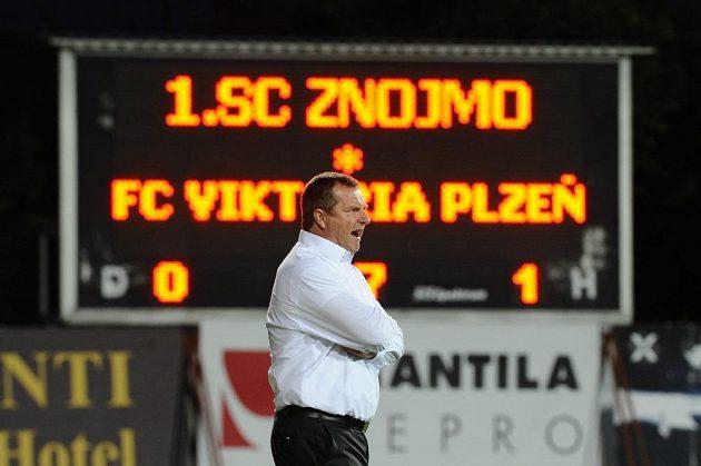 Plzeňský trenér Pavel Vrba v utkání proti Znojmu.