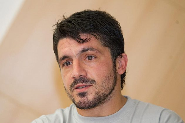 Ani Gennaro Gattuso, bývalý spoluhráč Marka Jankulovského z AC Milán, na benefici nechyběl.