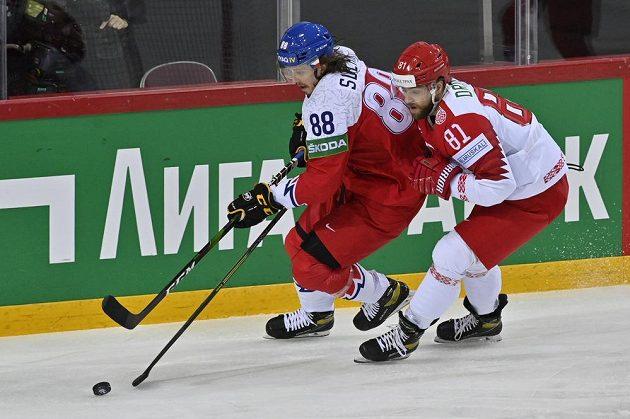 Zleva Libor Šulák aSergej Drozd z Běloruska.