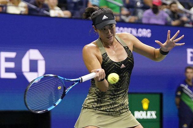 Nasazená devítka tenisového US Open - Španělka Garbiňe Muguruzaová.