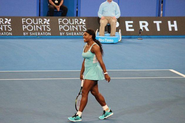 Americká tenistka Serena Williamsová na Hopman Cupu